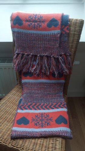 Review Bufanda de lana rosa-azul aciano