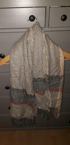 ohne Marke Sciarpa lavorata a maglia multicolore