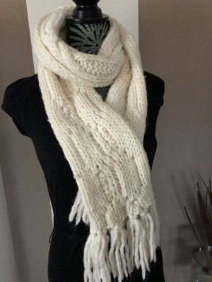 H&M Knitted Scarf natural white-cream