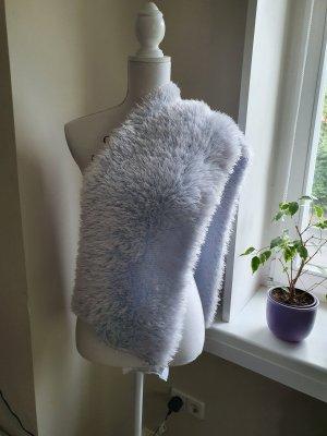 Gebreide sjaal azuur Polyester