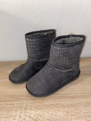 Inspired Winter Booties black-silver-colored