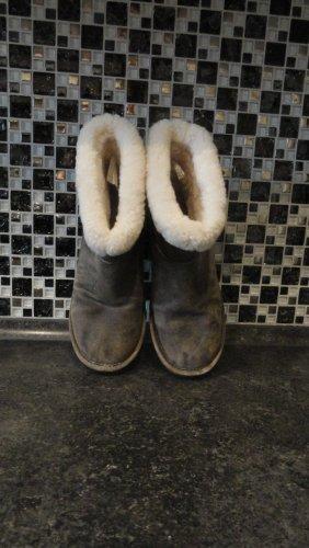 Michael Kors Bottes de neige gris brun-brun foncé daim