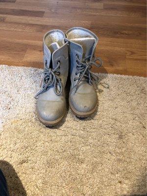 Halfhoge laarzen lichtgrijs