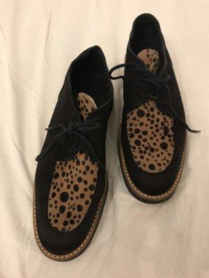 Arche Sznurowane buty czarny-brązowy Skóra