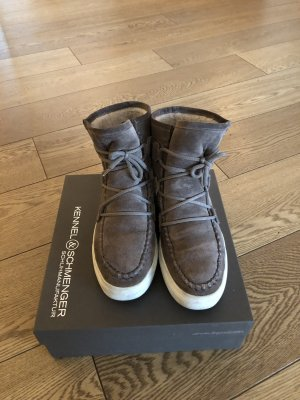 Kennel + schmenger High top sneaker grijs-bruin