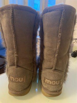 MOU Boots Bottes fourrées gris