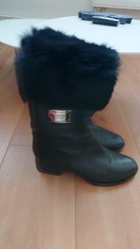Armani Collezioni Bottes d'hiver noir cuir