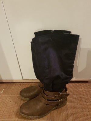 Anna Field Winter Boots brown-blue