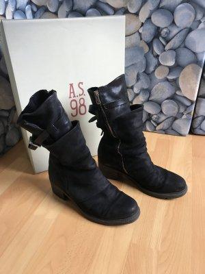 A.S.98 Botas de invierno negro Cuero