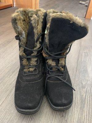 ara Bottes de neige noir-brun