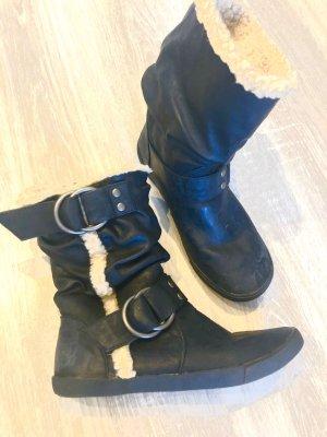 Blowfish Winter Boots black-natural white