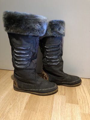 Fur Boots grey brown-grey