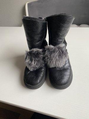 0039 Italy Bottes d'hiver noir-gris