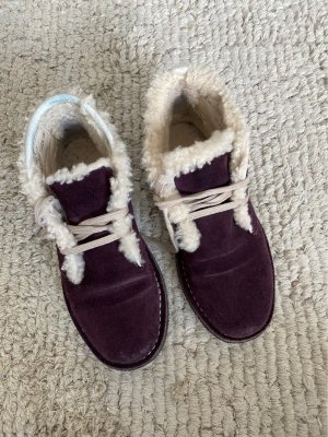 Bally Winter Booties natural white-bordeaux