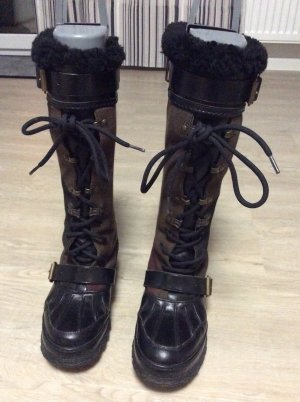 Burberry Winter Boots black-dark brown