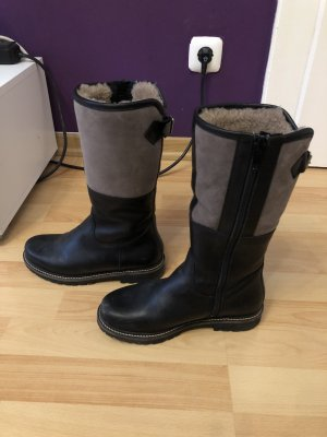 Dirndl + Bua Fur Boots black-grey brown