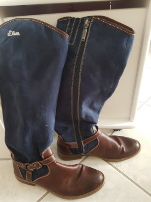 s.Oliver Winter Boots brown-blue