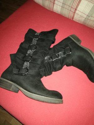 Stivale invernale nero-grigio