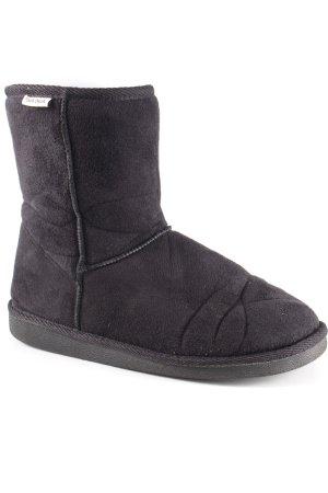 Winter Boots black Logo application