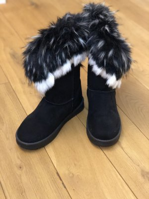 Fur Boots white-black