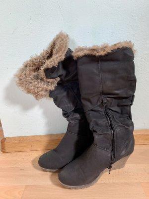 Buffalo girl Buty zimowe czarny-brązowy