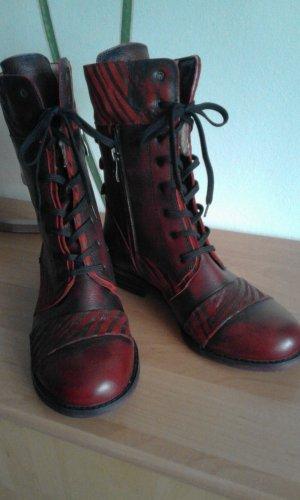 Corley Botines de invierno rojo oscuro-negro Cuero