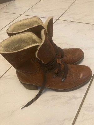 Gabor Winter boots cognac-licht beige