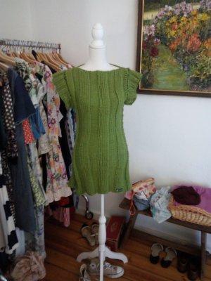 Long Cardigan forest green merino wool