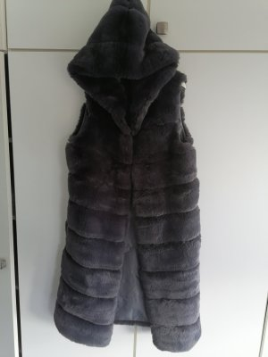 Robe manteau gris anthracite