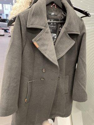 Navahoo Abrigo de lana gris oscuro-gris Acrílico