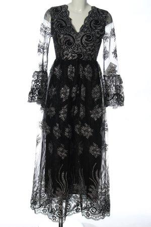 Wish Vestido de baile negro-color plata elegante
