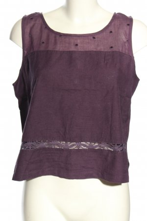 Wissmach Basic Top lila Punktemuster Casual-Look