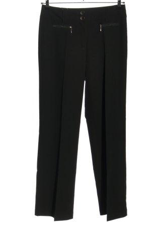 Wissmach Pantalón de pinza negro estilo «business»