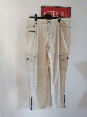Wissmach Damen Cargo Hose 7/8 Sommerhose creme Größe 46