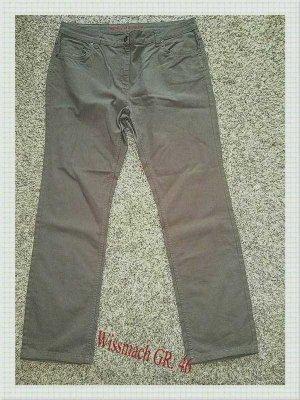 Wissmach Pantalon cinq poches gris brun-beige coton