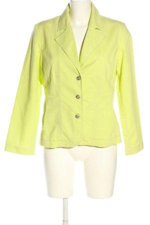 Wissmach Blazer en jean jaune primevère style décontracté