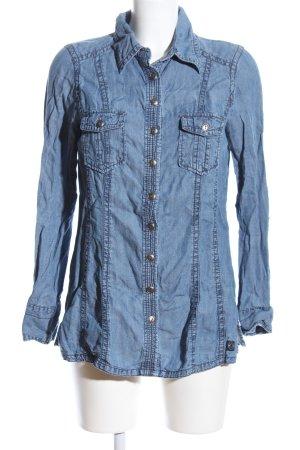 Wissmach Langarmhemd blau Casual-Look