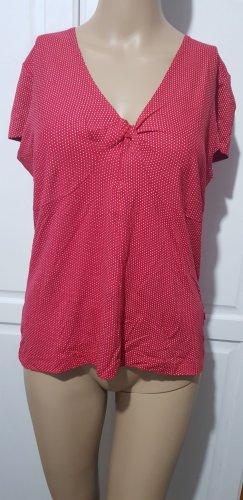 wissmach shirt Oberteil rot mit weißen Punkten