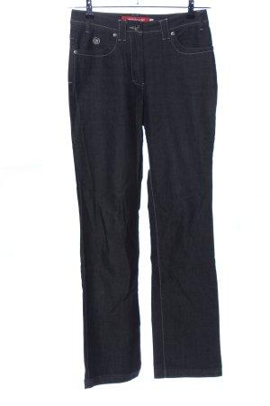Wissmach Straight-Leg Jeans schwarz Casual-Look