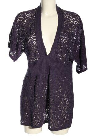 Wissmach Strickshirt lila Street-Fashion-Look