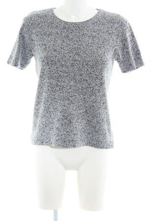 Wissmach T-Shirt hellgrau-schwarz meliert Casual-Look