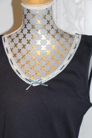 Wissmach Lace Top dark blue-white
