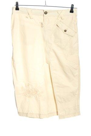 Wissmach Wraparound Skirt cream casual look