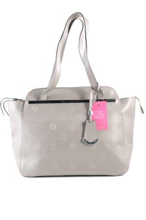 Wittchen Handtasche hellgrau Motivdruck Business-Look