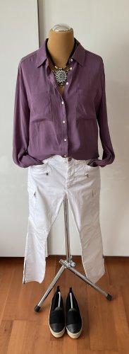 Witty Knitters Camicetta a maniche lunghe grigio-lilla Seta