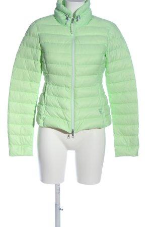 Witty Knitters Daunenjacke grün Schriftzug gestickt Casual-Look