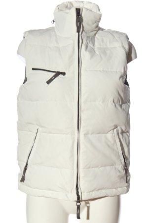 Witty Knitters Puchowa kamizelka biały Pikowany wzór W stylu casual