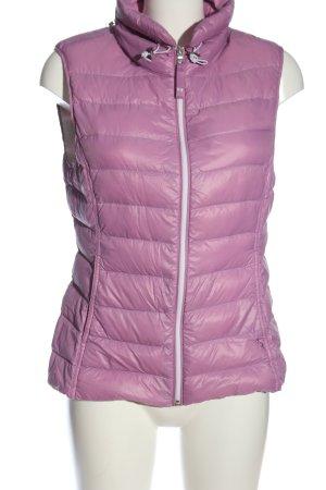 Witty Knitters Gilet en duvet violet motif de courtepointe style décontracté