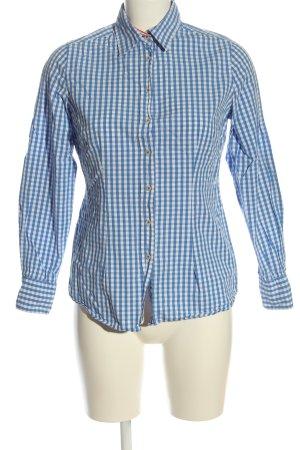 Witty Knitters Camisa de leñador azul-blanco estampado a cuadros look casual