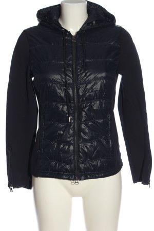 Witty Knitters Chaqueta con capucha negro estampado acolchado look casual